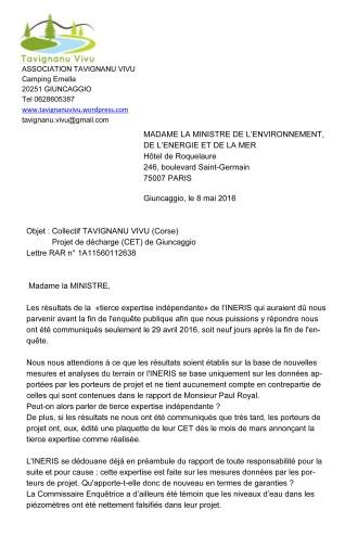 Madame la Ministre 8 mai 2016-1
